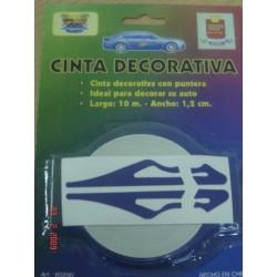 CINTA DECORATIVA C/PUNTERA AZU