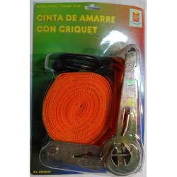 CINTA AMARRE 2X6M C/CRIQUET
