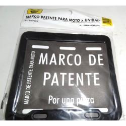 MARCO PARA PATENTE DE MOTO NEGRO