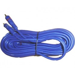 CABLE RCA P/AUDIO 3 mts AZUL