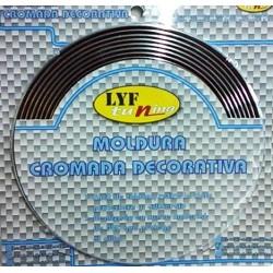 MOLDURA CROMADA 15mm X 6 mts