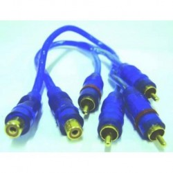 CABLE RCA 30cm 2R TO 1R X JGO.