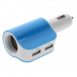 FICHA ENCENDEDOR CELESTE 2 USB+ 1 ENC